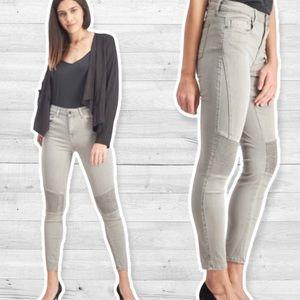 Pistola Audrey Moto Stone Gray Jeans